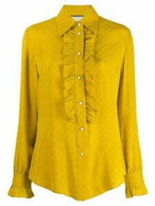 Gucci logo jacquard blouse - Yellow