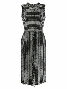 Alexander McQueen boucle tweed midi dress - Black