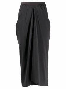 Rick Owens draped midi skirt - Grey