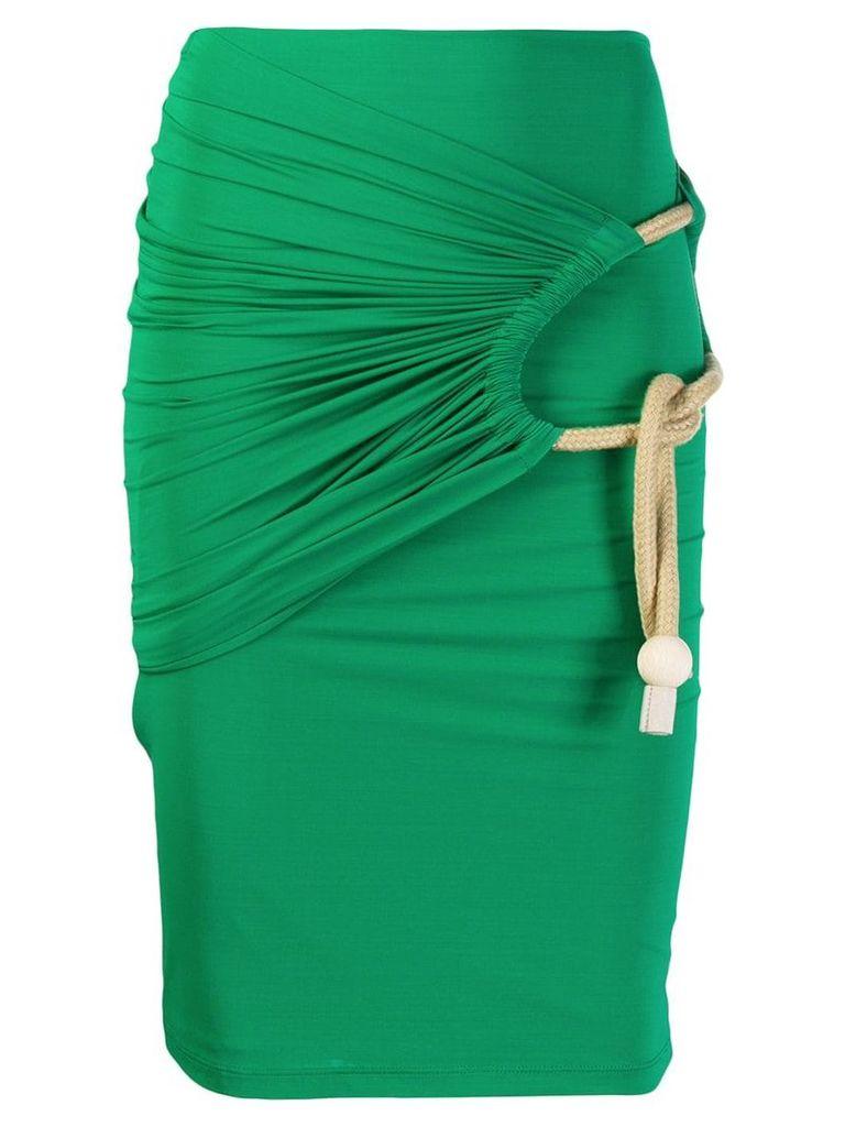 Ports 1961 rope detail skirt - Green