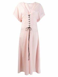 Marysia short-sleeve flared dress - Pink