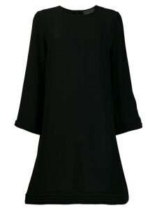 Gianluca Capannolo pleated detail shift dress - Black
