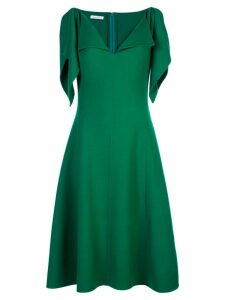Oscar de la Renta ruffle trim midi dress - Green