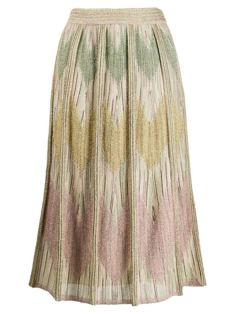 M Missoni metallic knitted skirt - Gold