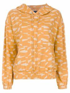 Andrea Marques printed hoodie - Orange