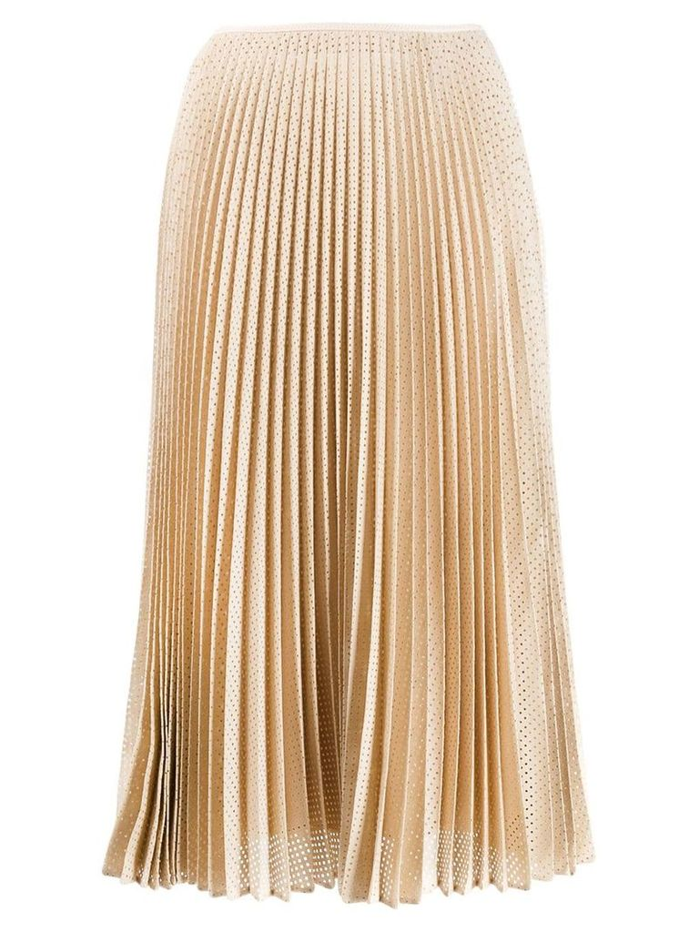 Fendi perforated A-line skirt - Neutrals