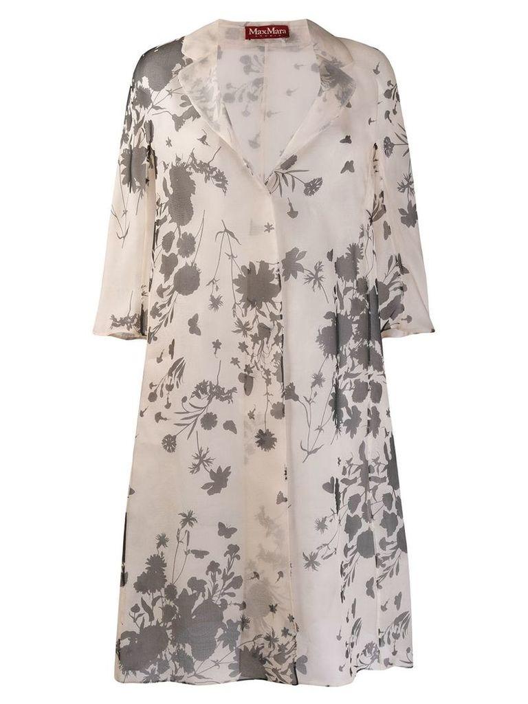Max Mara Studio floral print coat - Neutrals