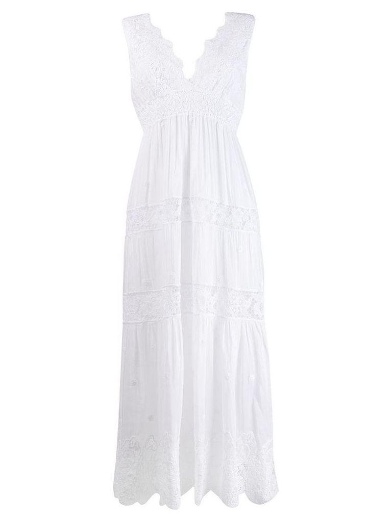 Temptation Positano sleeveless flared dress - White