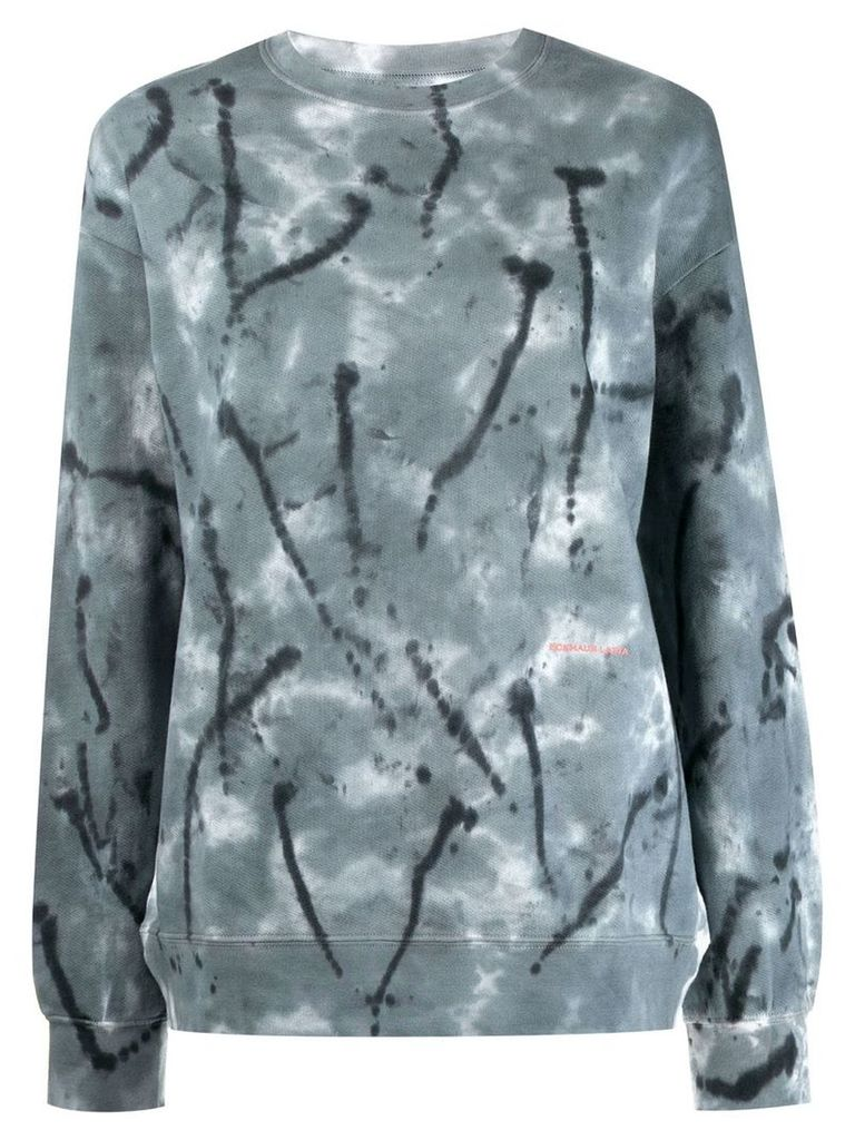 ECKHAUS LATTA Inkblot sweatshirt - Blue
