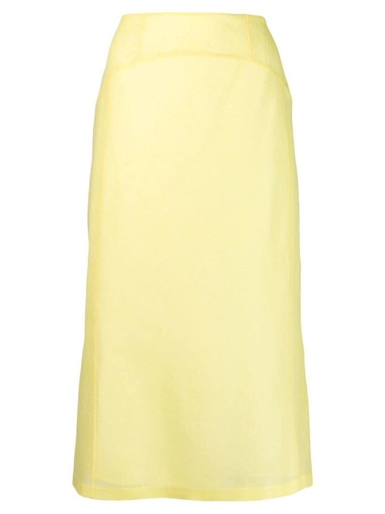 Olivier Theyskens tone-on-tone print skirt - Yellow