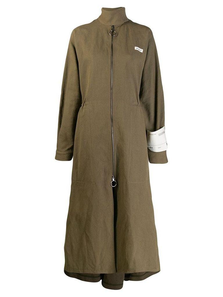 Off-White longline military coat - Green