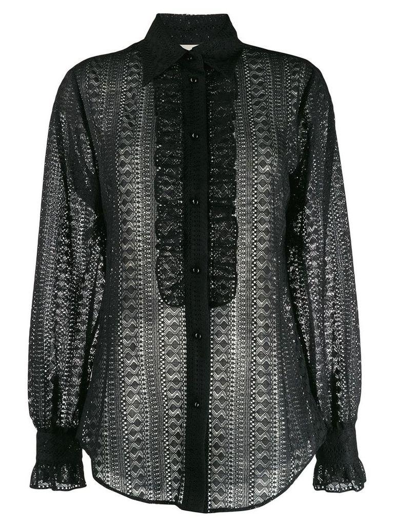 Gucci lace shirt - Black