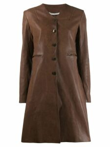 Cherevichkiotvichki single breasted coat - Brown