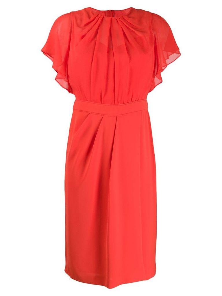 Max Mara Studio flutter sleeve dress - Red