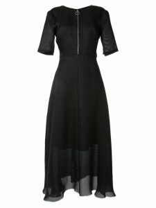 Partow frayed hem long dress - Black