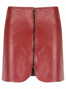Andrea Bogosian zipped leather skirt - Red