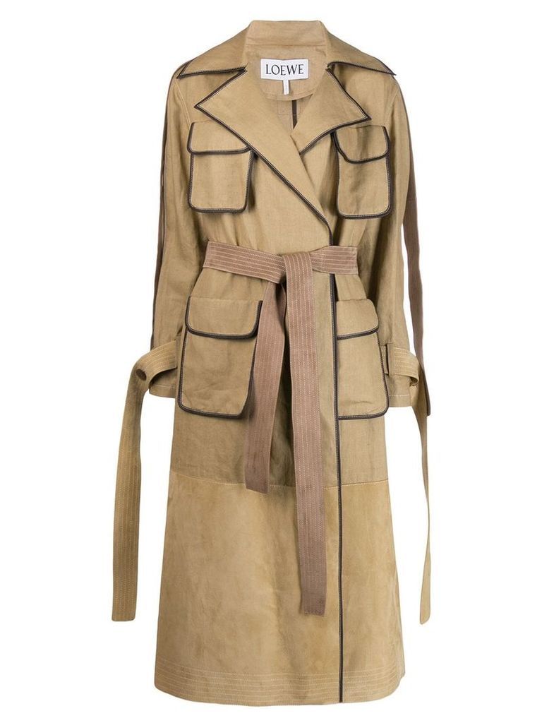Loewe belted trench coat - Neutrals