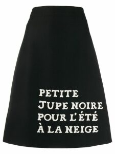 Gucci slogan A-line skirt - Black