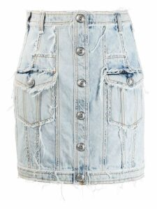Balmain buttoned denim skirt - Black