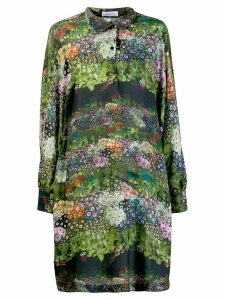 Ailanto floral shirt dress - Black