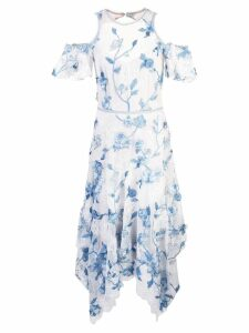 Marchesa Notte floral evening dress - Blue