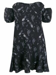 Chiara Ferragni off the shoulder mini dress - Black