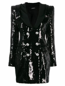 Balmain buttoned sequin dress - Black