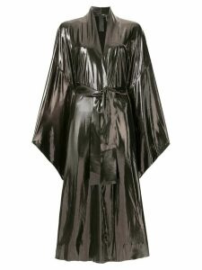 Norma Kamali bow-tied wrap dress - Silver