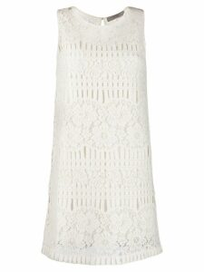 D.Exterior crochet embellished dress - White