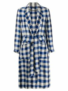 Antonelli gingham trench coat - Blue