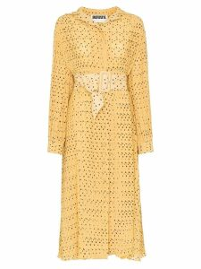 Rotate polka-dot tea dress - Yellow