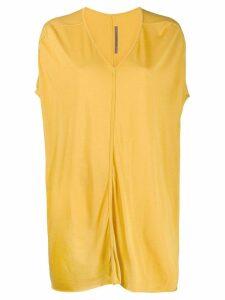 Rick Owens Lilies long v-neck T-shirt - Yellow