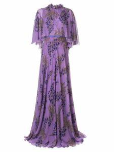 Giambattista Valli floral flared maxi dress - Purple