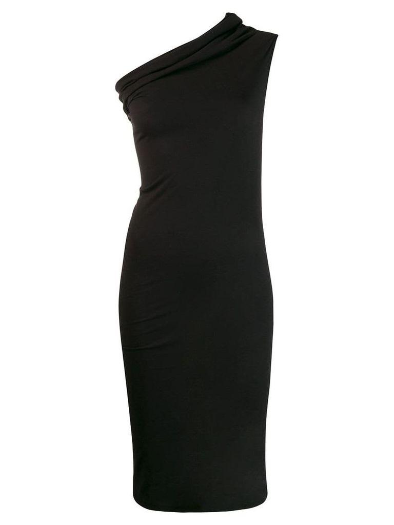 Rick Owens Lilies one shoulder dress - Black