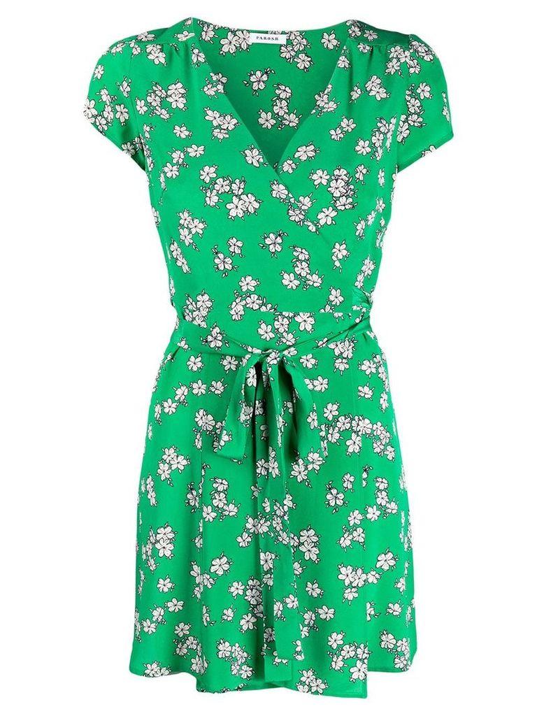 P.A.R.O.S.H. floral print mini dress - Green