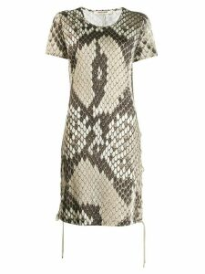 Roberto Cavalli python print dress - Neutrals