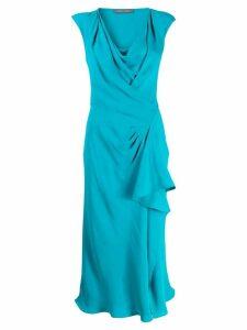 Alberta Ferretti cowl neck midi dress - Blue