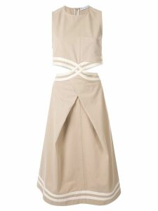 JW Anderson cut out waist dress - Neutrals