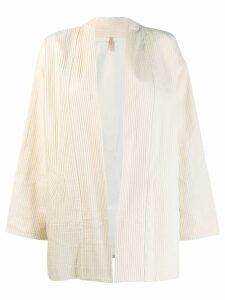 Indress ribbed kimono - Neutrals