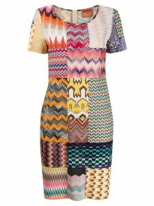 Missoni patchwork print dress - Neutrals