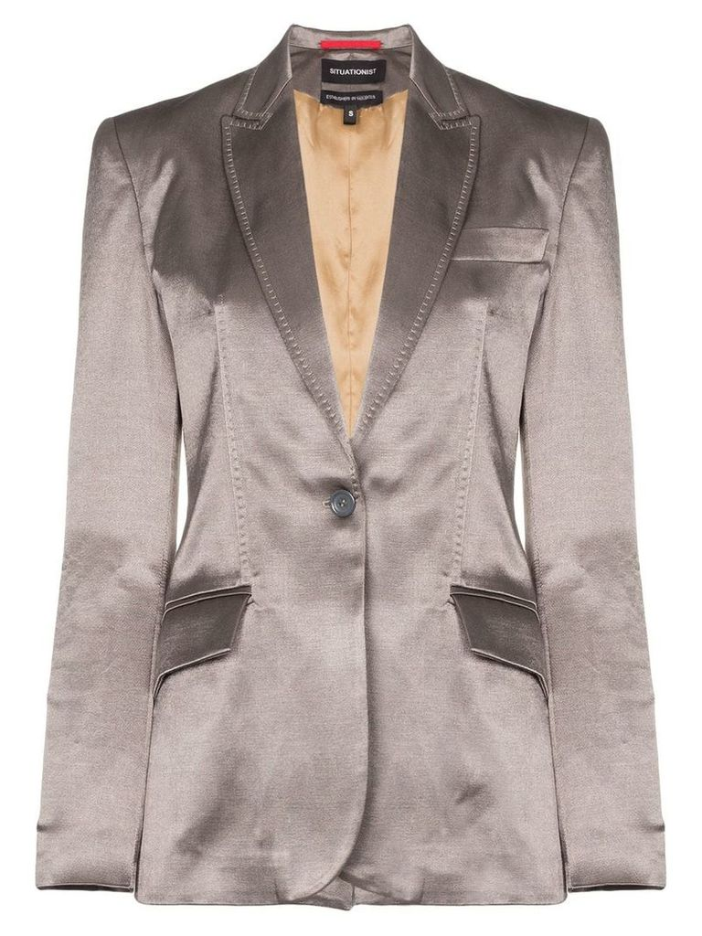 Situationist single-breasted blazer - Grey