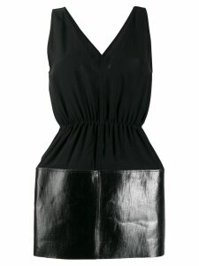 Rick Owens varnished panel blouse - Black