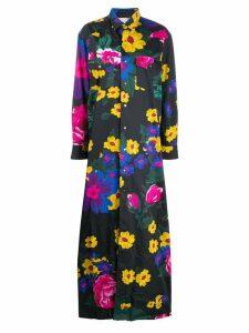 Marques'Almeida floral long-sleeve maxi dress - Black