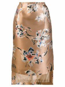 Rochas floral skirt - Neutrals