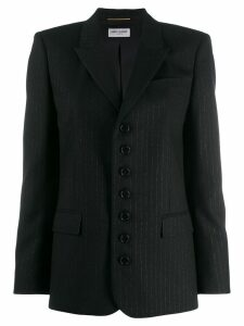 Saint Laurent embroidered striped blazer - Black
