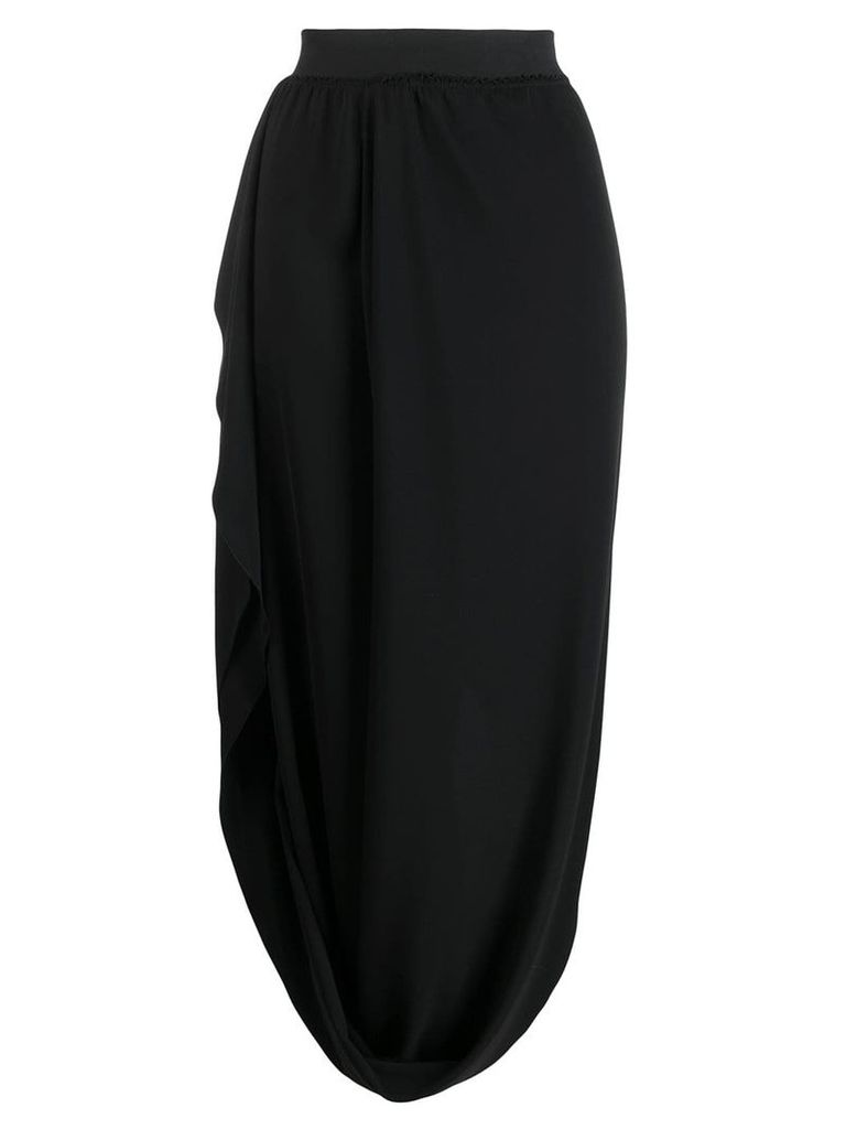 Poiret draped cocoon skirt - Black