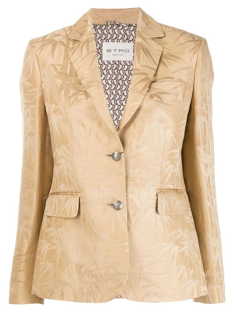 Etro printed single-breasted blazer - Neutrals