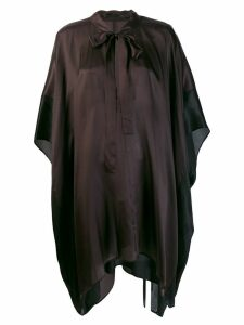 Haider Ackermann short-sleeve flared blouse - Black