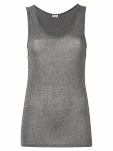 Saint Laurent slim-fit tank top - Grey