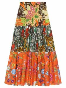 Gucci Patchwork print skirt - ORANGE